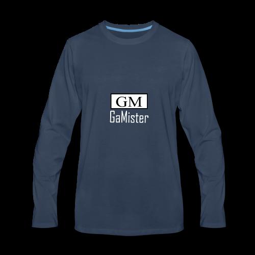 gamister_shirt_design_1_back - Men's Premium Long Sleeve T-Shirt