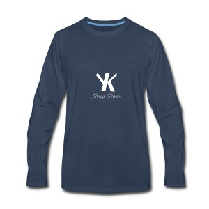 Young Kevino Official Logo (White) - Men's Premium Long Sleeve T-Shirt