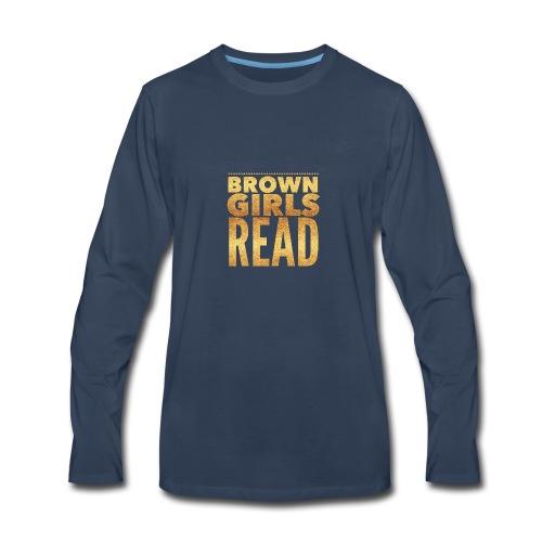 Brown Girls Read - Men's Premium Long Sleeve T-Shirt