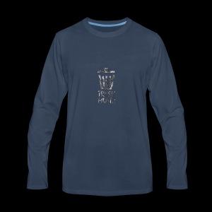 Grey Trash Logo - Men's Premium Long Sleeve T-Shirt