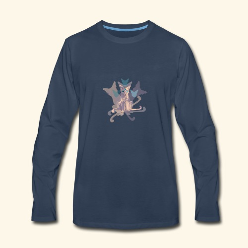 Feline of Obscure Symmetry - Men's Premium Long Sleeve T-Shirt