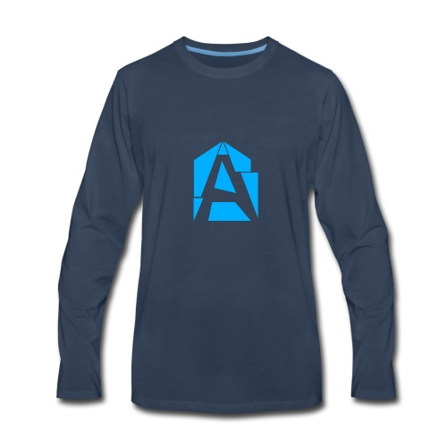 Abstrakt Simplistic - Men's Premium Long Sleeve T-Shirt
