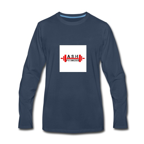 ASH FITNESS MUSCLE ACCESSORIES - Men's Premium Long Sleeve T-Shirt