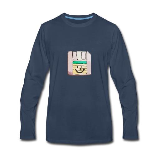 smiley floppy disk - Men's Premium Long Sleeve T-Shirt