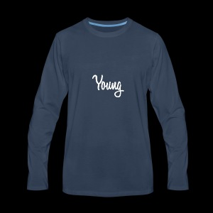 Simple Young Shirt - White Logo - Men's Premium Long Sleeve T-Shirt