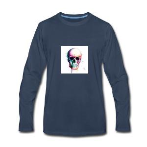 Colourful skull - Men's Premium Long Sleeve T-Shirt