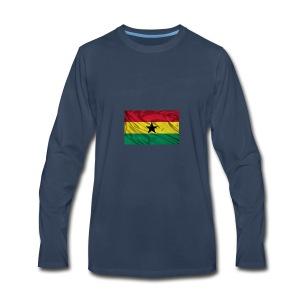 Ghana-Flag - Men's Premium Long Sleeve T-Shirt