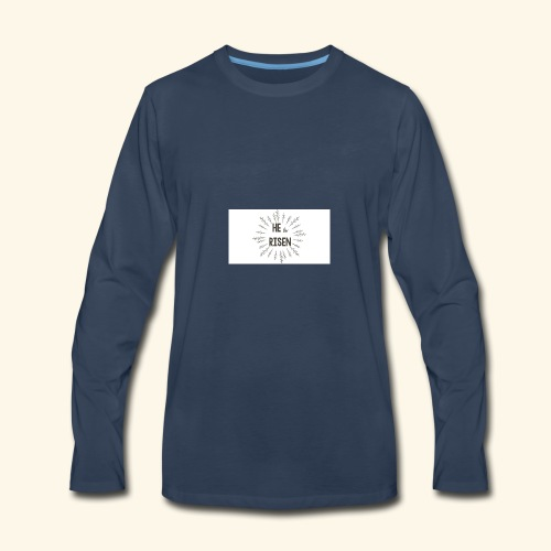 He is risen - Men's Premium Long Sleeve T-Shirt