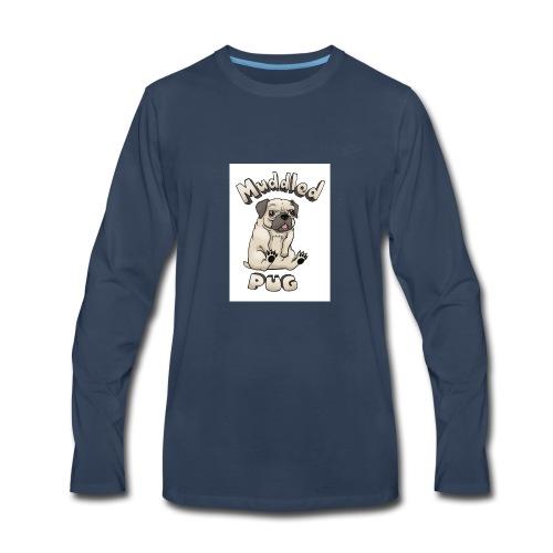 muddled-pug - Men's Premium Long Sleeve T-Shirt
