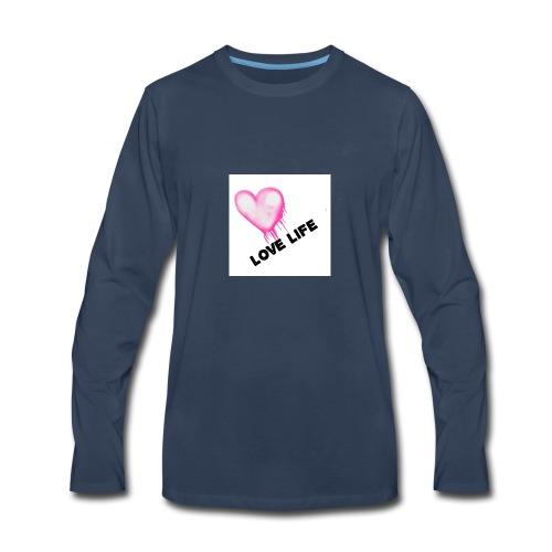LOVE LIFE ALL DAY - Men's Premium Long Sleeve T-Shirt