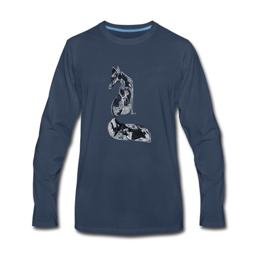 fox distressed inverted design - Men's Premium Long Sleeve T-Shirt