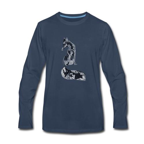 fox distressed inverted design - Men's Premium Long Sleeve T-Shirt