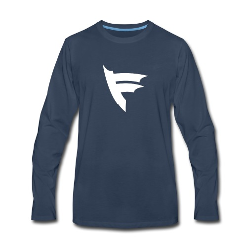 the f white - Men's Premium Long Sleeve T-Shirt