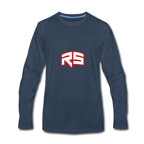 Roz Stripe Standard Logo - Men's Premium Long Sleeve T-Shirt