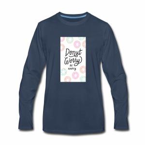 DONUT WORDY BE HAPPY - Men's Premium Long Sleeve T-Shirt