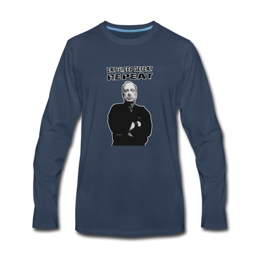 Eat. Sleep. Defeat. Repeat - Master Ernie T - Men's Premium Long Sleeve T-Shirt