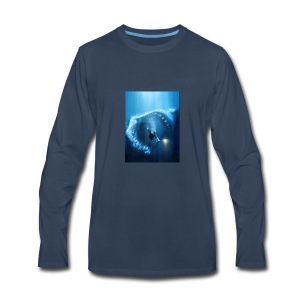 Mr.Shark is hungry - Men's Premium Long Sleeve T-Shirt