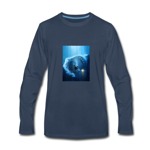 Mr.Shark is hungry - Men's Premium Long Sleeve T-Shirt