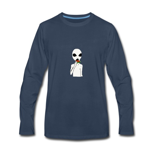 Hungry alien - Men's Premium Long Sleeve T-Shirt
