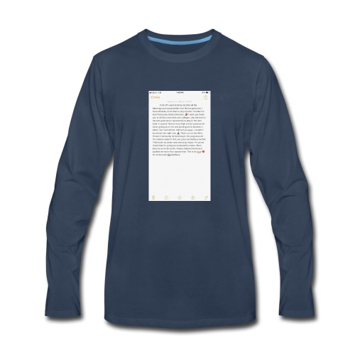 Text from a Football Commit - Men's Premium Long Sleeve T-Shirt