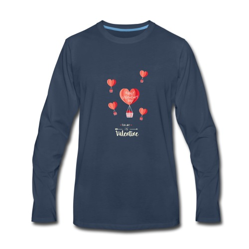 Happy Valentines Day - Men's Premium Long Sleeve T-Shirt