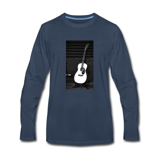 Accoustic Guitar - Men's Premium Long Sleeve T-Shirt