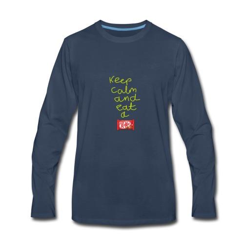 Keep calm and eat a KitKat - Men's Premium Long Sleeve T-Shirt