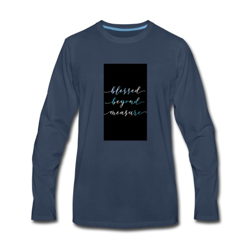 Blessed Beyond Measure - Men's Premium Long Sleeve T-Shirt