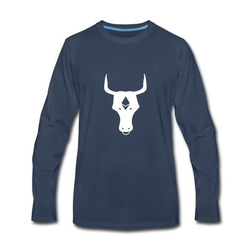ether bull white - Men's Premium Long Sleeve T-Shirt