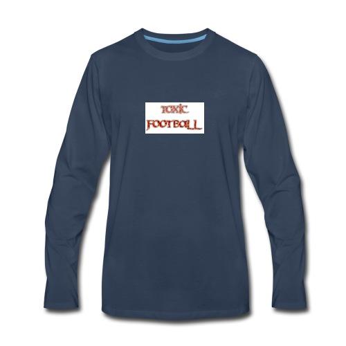 Flaming toxic football - Men's Premium Long Sleeve T-Shirt