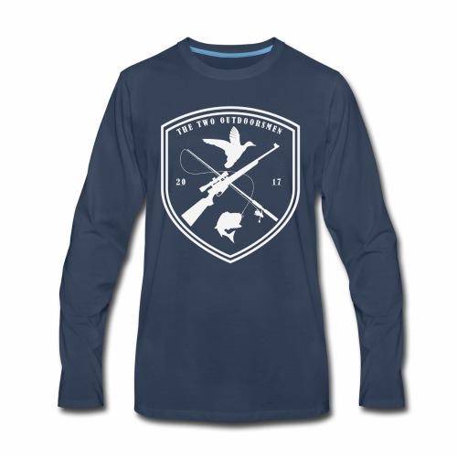 Two Outdoorsmen Logo print - Men's Premium Long Sleeve T-Shirt