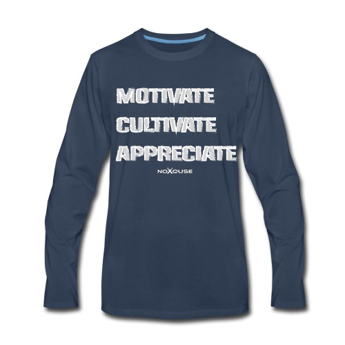 Motivate Cultivate Appreciate - Men's Premium Long Sleeve T-Shirt