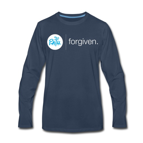 The Path Forgiven Logo In White - Men's Premium Long Sleeve T-Shirt