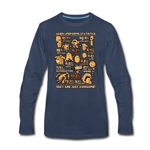 Alien Statistics - Men's Premium Long Sleeve T-Shirt