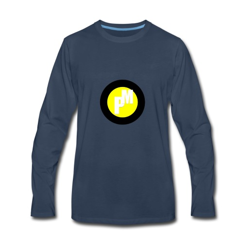 M3ga Merch Yellow - Men's Premium Long Sleeve T-Shirt