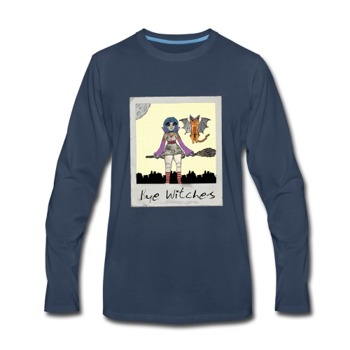 BYE WITCHES! Polariod - Men's Premium Long Sleeve T-Shirt