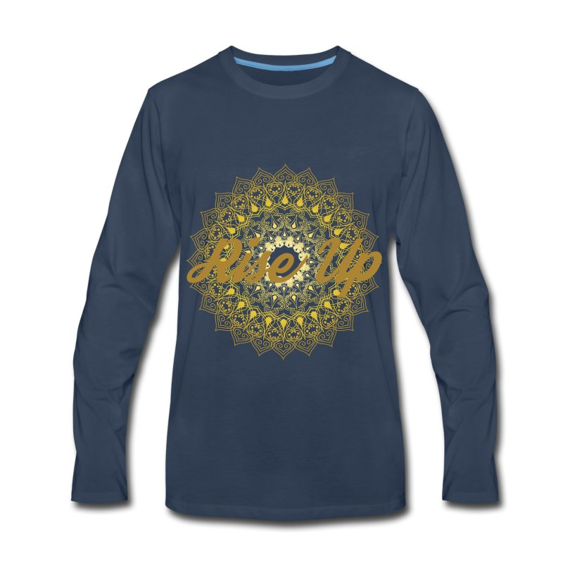Rise Up by Ezina - Men's Premium Long Sleeve T-Shirt
