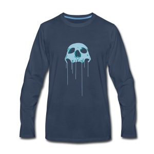 Skull blue bloody - Men's Premium Long Sleeve T-Shirt