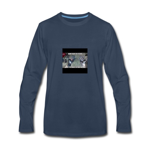 itchy eye - Men's Premium Long Sleeve T-Shirt