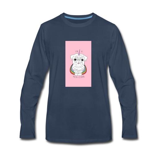 I'm a pug-I-corn - Men's Premium Long Sleeve T-Shirt