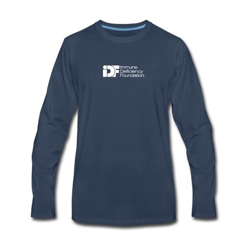 IDF Logo - White - Men's Premium Long Sleeve T-Shirt