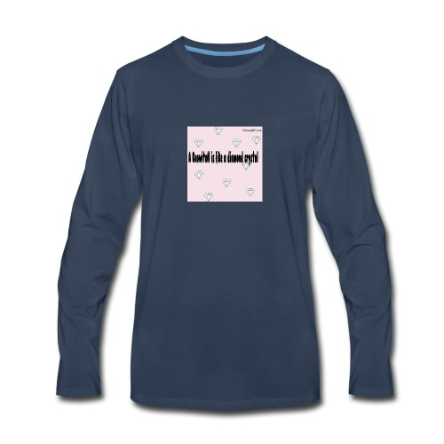 Diamond crystal Custom Design - Men's Premium Long Sleeve T-Shirt