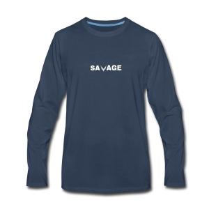 Savage Merch - Men's Premium Long Sleeve T-Shirt