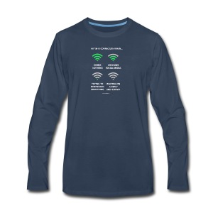 My wi-fi connection when... - Men's Premium Long Sleeve T-Shirt