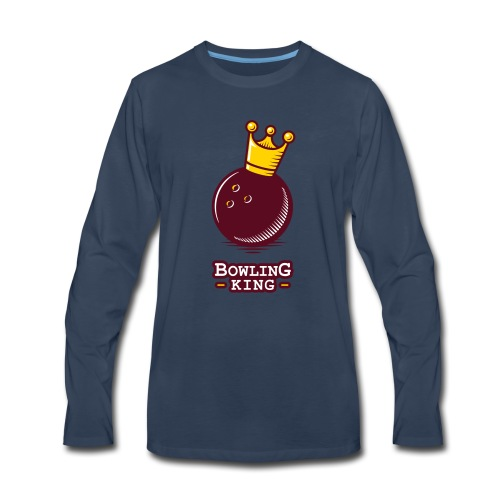 Bowling King - Men's Premium Long Sleeve T-Shirt
