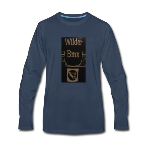 Wilder Bmx logo apparel - Men's Premium Long Sleeve T-Shirt