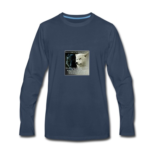Wolf are just awesome - Men's Premium Long Sleeve T-Shirt
