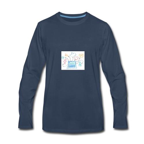 social media - Men's Premium Long Sleeve T-Shirt