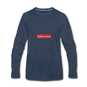 BBQ sauce on my titties - Men's Premium Long Sleeve T-Shirt