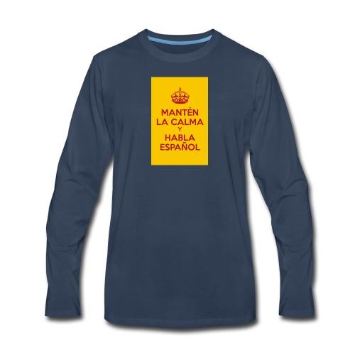 18cc4 keepcalmposter - Men's Premium Long Sleeve T-Shirt